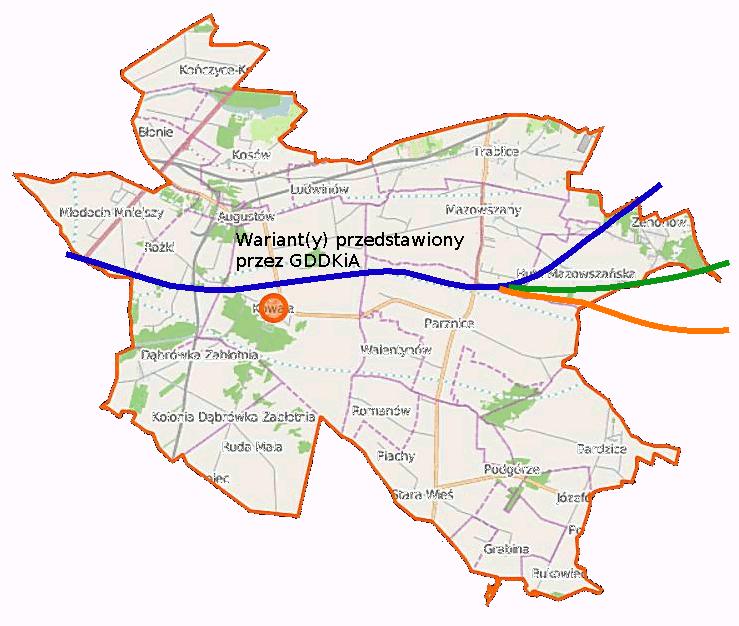 Mapa Kowali