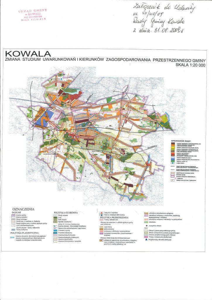 Plan zagospodarowania Gminy Kowala